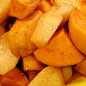 Sweet Potatoes and Apples in the Slow Cooker