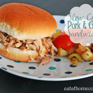 Slow Cooker Pork and Gravy Sandwiches
