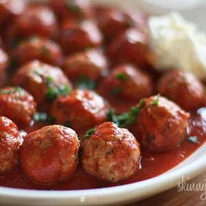Crock Pot Italian Turkey Meatballs