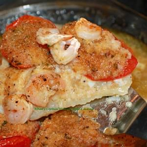 Spicy Shrimp Topped Cod