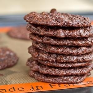 Flourless Chocolate Cookies (GF + Vegan)
