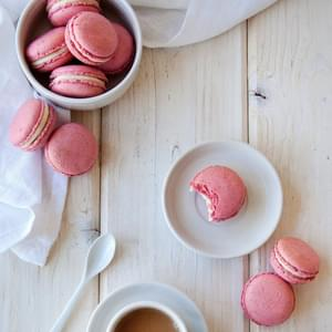Raspberry-Coconut French Macarons