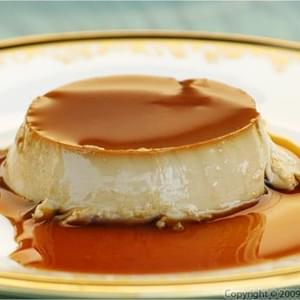 Coffee and Cardamom Flavored Creme Caramel