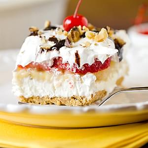 No-Bake Banana Split Cake Dessert