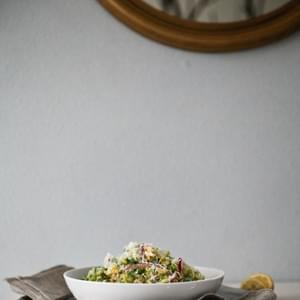 Brussels Sprout Salad with Red Onion and Pecorino