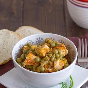 Chicken and Peas Stew