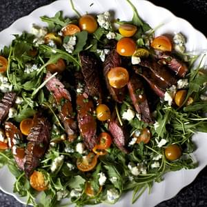 Skirt Steak Salad with Arugula and Blue Cheese