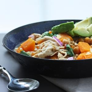 Low Carb & Gluten Free Pumpkin Chicken Chili