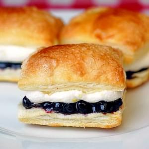 Blueberry Lemon Mini Puff Pastries