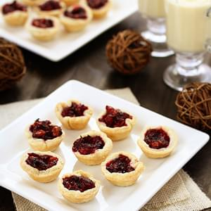Bite Sized Mini Cranberry Walnut Tarts