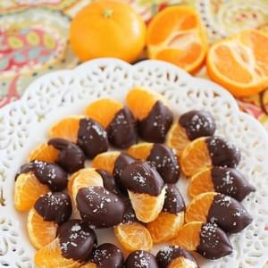 Chocolate Dipped Clementines with Sea Salt
