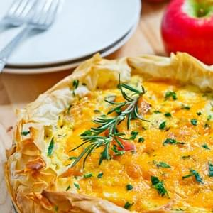 Apple and Cheddar Quiche