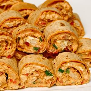 Chicken Enchilada Dip Roll-Ups