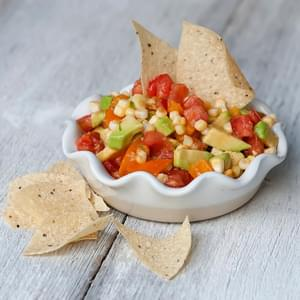 Fresh Corn, Tomato and Avocado Salsa