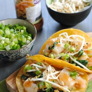 Thai Ginger-Lemongrass Shrimp Tacos