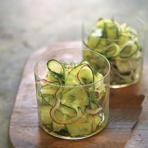 Cucumber, Red Onion and Dill Shaved Salad