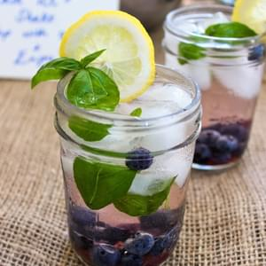 Spiked Blueberry Basil Lemonade