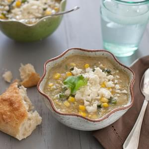 Mexican Corn and Poblano Soup