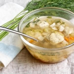 Vegetarian Matzoh Ball Soup