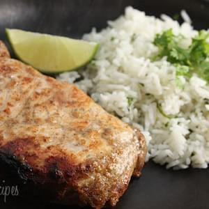 Garlic Lime Marinated Pork Chops