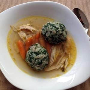 Whole Wheat Spinach Matzo Balls