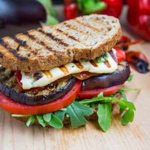 Marinated Roasted Red Pepper Grilled Cheese Sandwich Recipe