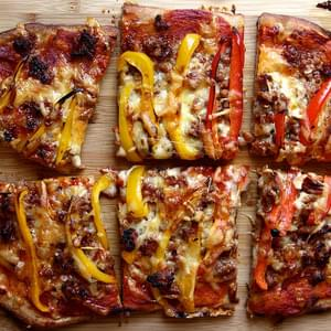 Spicy Sausage and Sweet Pepper Pizza