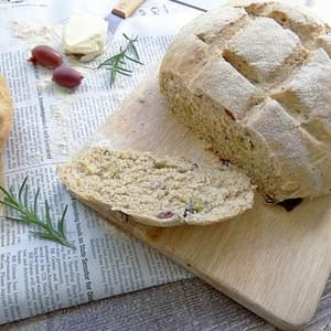 Rosemary Olive Peasant Bread