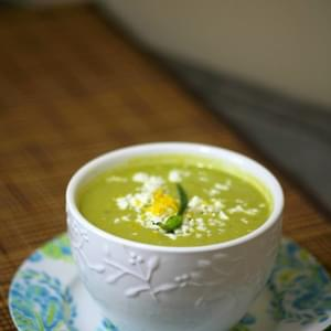 Chilled Asparagus Pea Soup