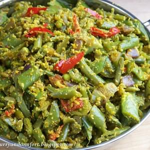 Spicy Green Bean and Coconut Mellun (Curry)