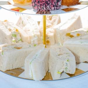 Provençal Chicken Salad Tea Sandwiches& Cucumber Goat Cheese Tea Sandwiches