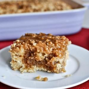 Eggnog Breakfast Crumble Crunch Cake
