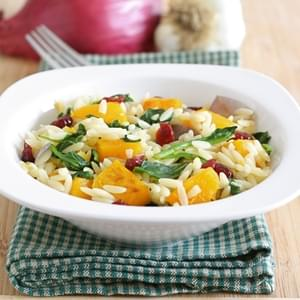Roasted Butternut Squash Orzo Salad