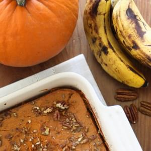 Baked Oatmeal with Pumpkin and Bananas