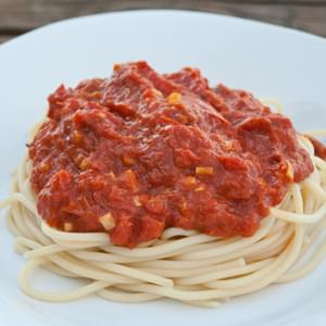 Roasted Tomato Sauce with Garlic