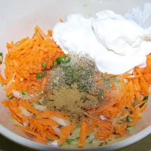 Cucumber and Carrot Raita (Yogurt Salad)