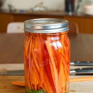 Carrot and Red Pepper Refrigerator Pickles
