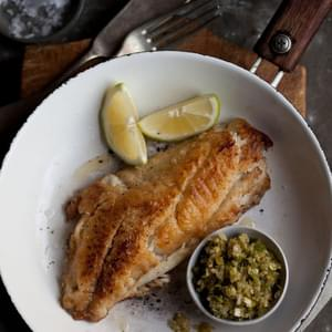 Pan Fried Line Fish With A Ginger Scallion Sauce