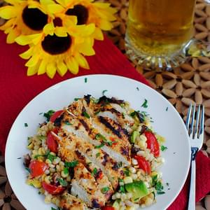 Grilled Chicken with Mom's Barley Corn Salad
