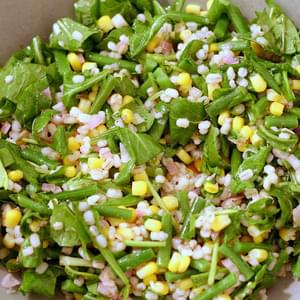 Barley and Corn Salad with Arugula and Haricot Vert