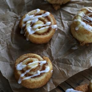 Gluten Free Cinnamon Roll Sugar Cookies