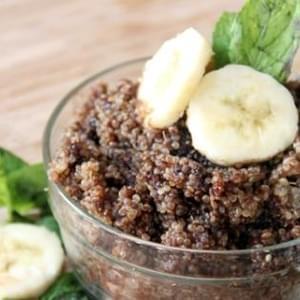 Chocolate Banana Breakfast Quinoa