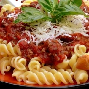 Noble Pig's Red Pasta Meat Sauce