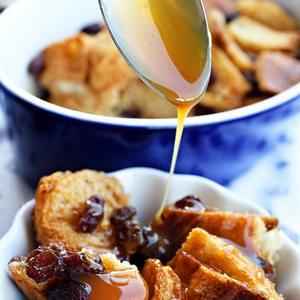 Bourbon Bread Pudding with Caramel Sauce