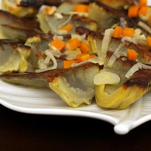 Artichokes Braised in Lemon and Olive Oil