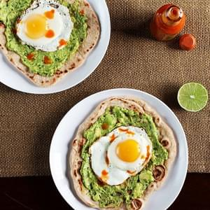 Avocado and Egg Breakfast Pizza