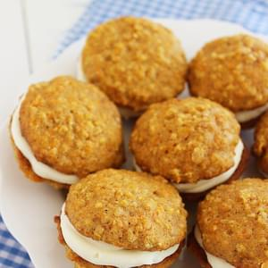 Soft Carrot Cake Sandwich Cookies