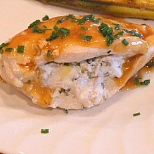 Artichoke & Goat Cheese Stuffed Chicken
