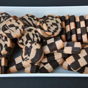 Strawberry Black Pepper Chocolate Checkerboard Cookies