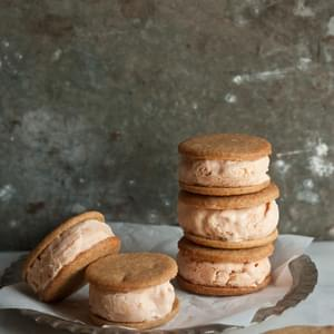 Cinnamon & Ginger Cookie Ice Cream Sandwiches